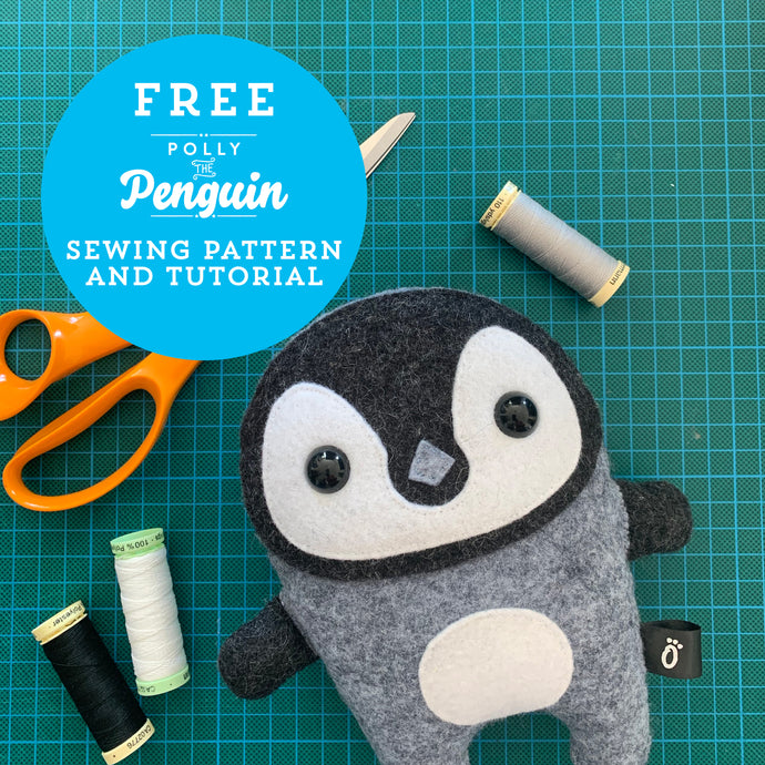 Polly the Penguin Free Sewing Pattern and Tutorial