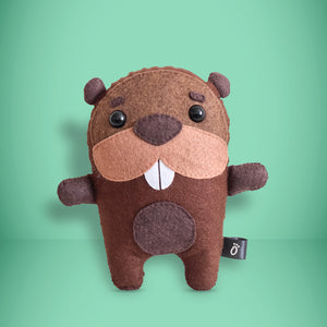 Beaver - Sew Your Own Felt Kit - Oddly Wild