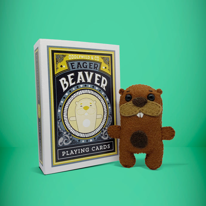 Mini Beaver in a card box - Stuffed toy