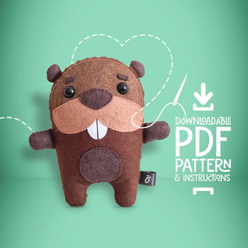 Beaver - Digital Download Sewing Pattern - Oddly Wild