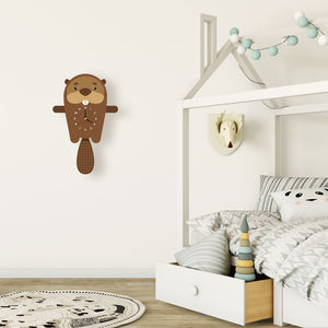 Beaver Wall Clock with pendulum tail - Oddly Wild