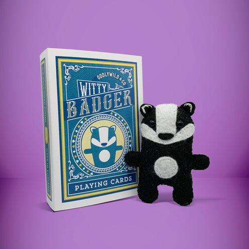 Mini Badger in a card box - Stuffed toy