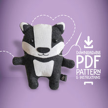 Load image into Gallery viewer, Badger - Digital Download Sewing Pattern - Oddly Wild