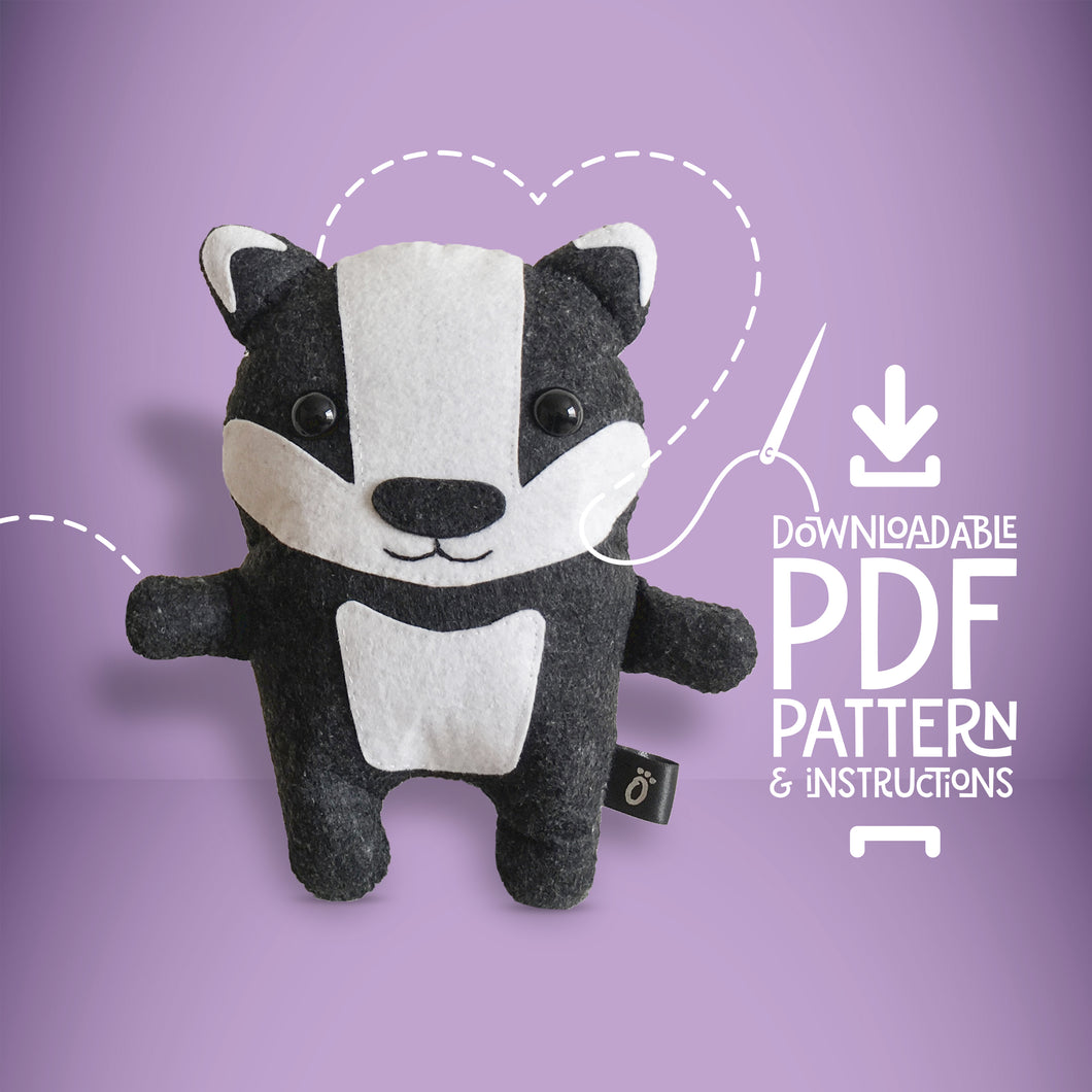 Badger - Digital Download Sewing Pattern - Oddly Wild