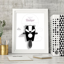 Load image into Gallery viewer, Belle the Badger Animal Print - Instant Digital Download - Oddly Wild