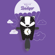 Load image into Gallery viewer, Badger Wall Clock with pendulum tail - Oddly Wild