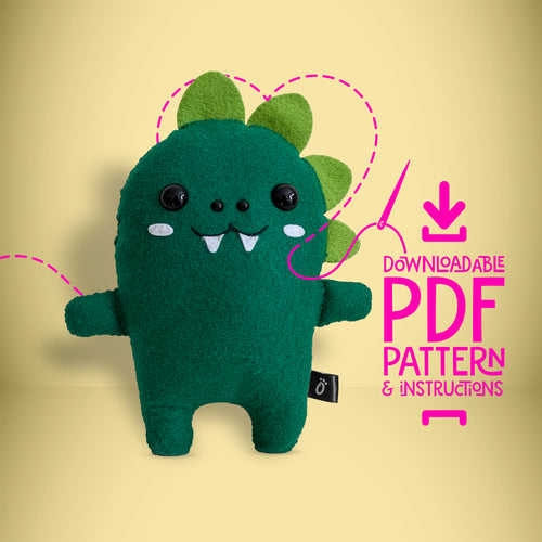 Dinosaur - Digital Download Sewing Pattern - Oddly Wild