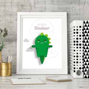 Douglas the Dinosaur Digital Art Print - Oddly Wild