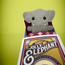 Load image into Gallery viewer, Mini Felt Elephant in a card - Stuffed toy