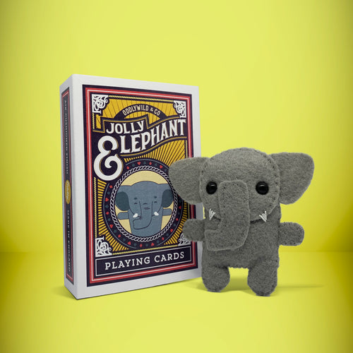 Mini Elephant in a card box - Stuffed toy