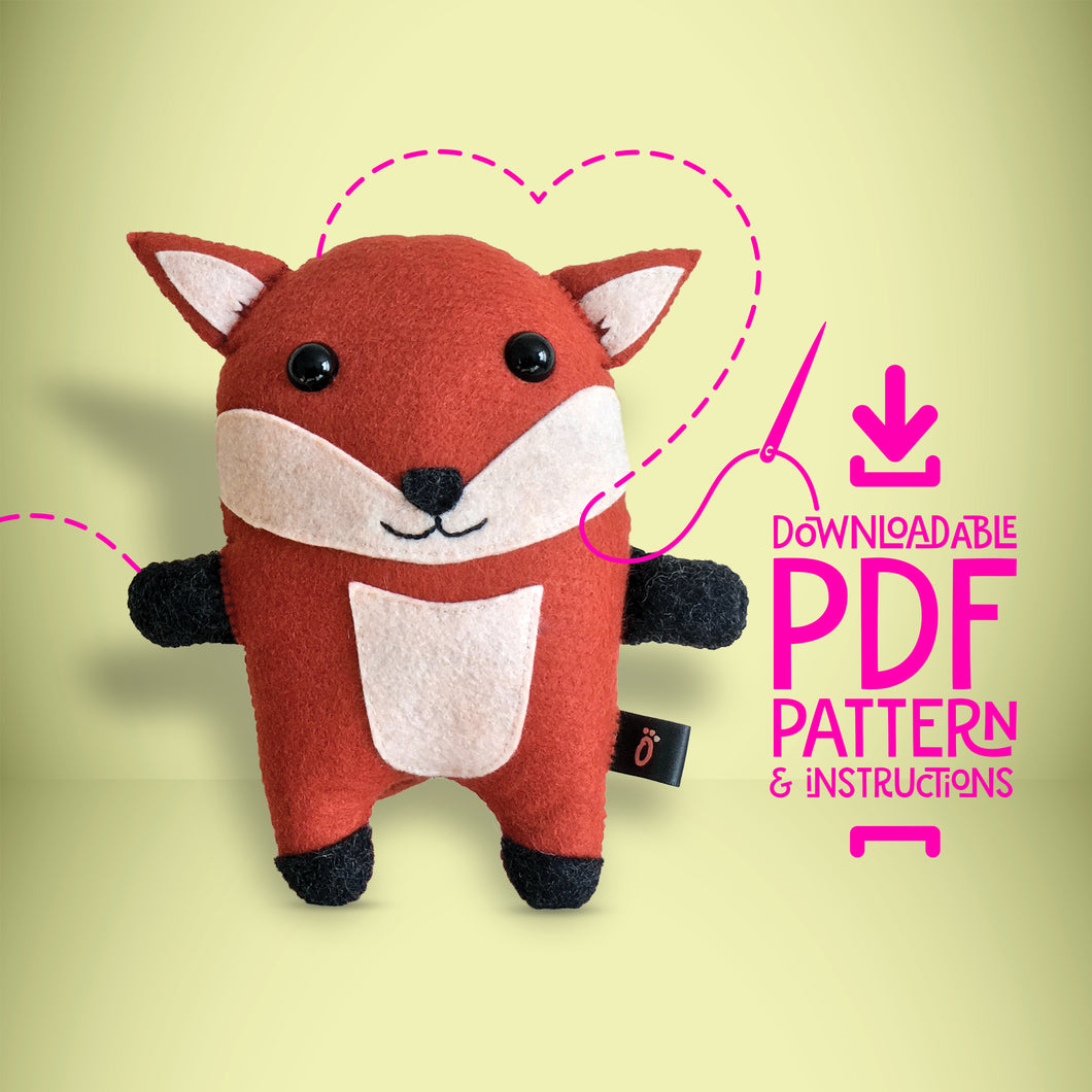 Fox - Digital Download Sewing Pattern - Oddly Wild