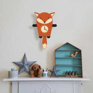 Fox Wall Clock with pendulum tail