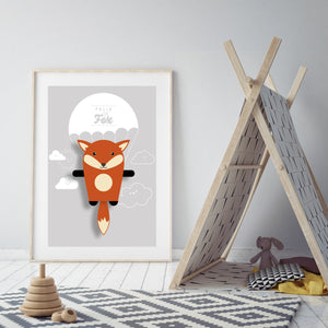 Felix the Fox Animal Print - Instant Digital Download - Oddly Wild