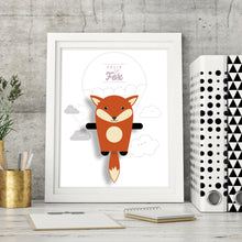 Load image into Gallery viewer, Felix the Fox Animal Print - Instant Digital Download - Oddly Wild