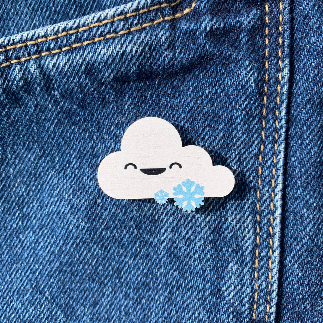 Cute Cloud and Snow Pin