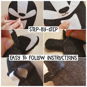 Badger - Sew Your Own Felt Kit - Oddly Wild
