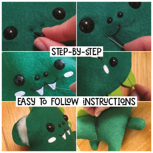 Dinosaur - Sew Your Own Felt Kit - Oddly Wild