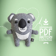 Load image into Gallery viewer, Koala - Digital Download Sewing Pattern - Oddly Wild
