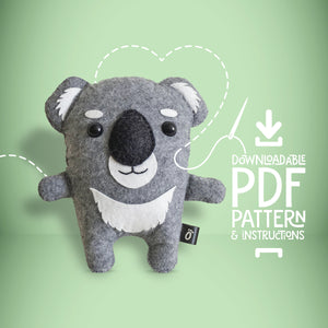 Koala - Digital Download Sewing Pattern - Oddly Wild