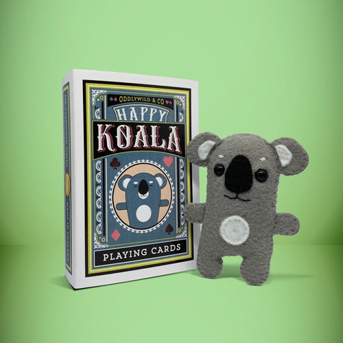 Mini Felt Koala in a card box