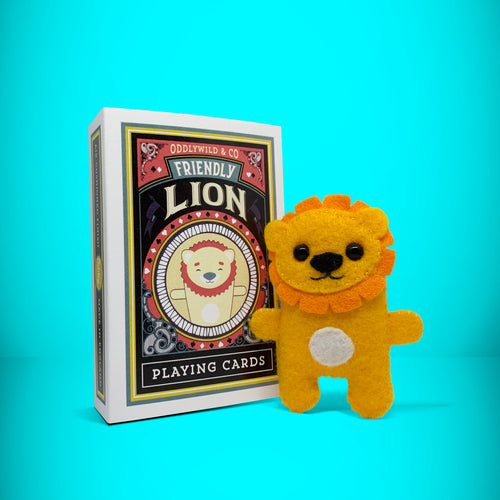 Mini Felt Lion in a box - Stuffed toy