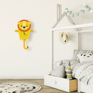 Lion Wall Clock with pendulum tail - Oddly Wild