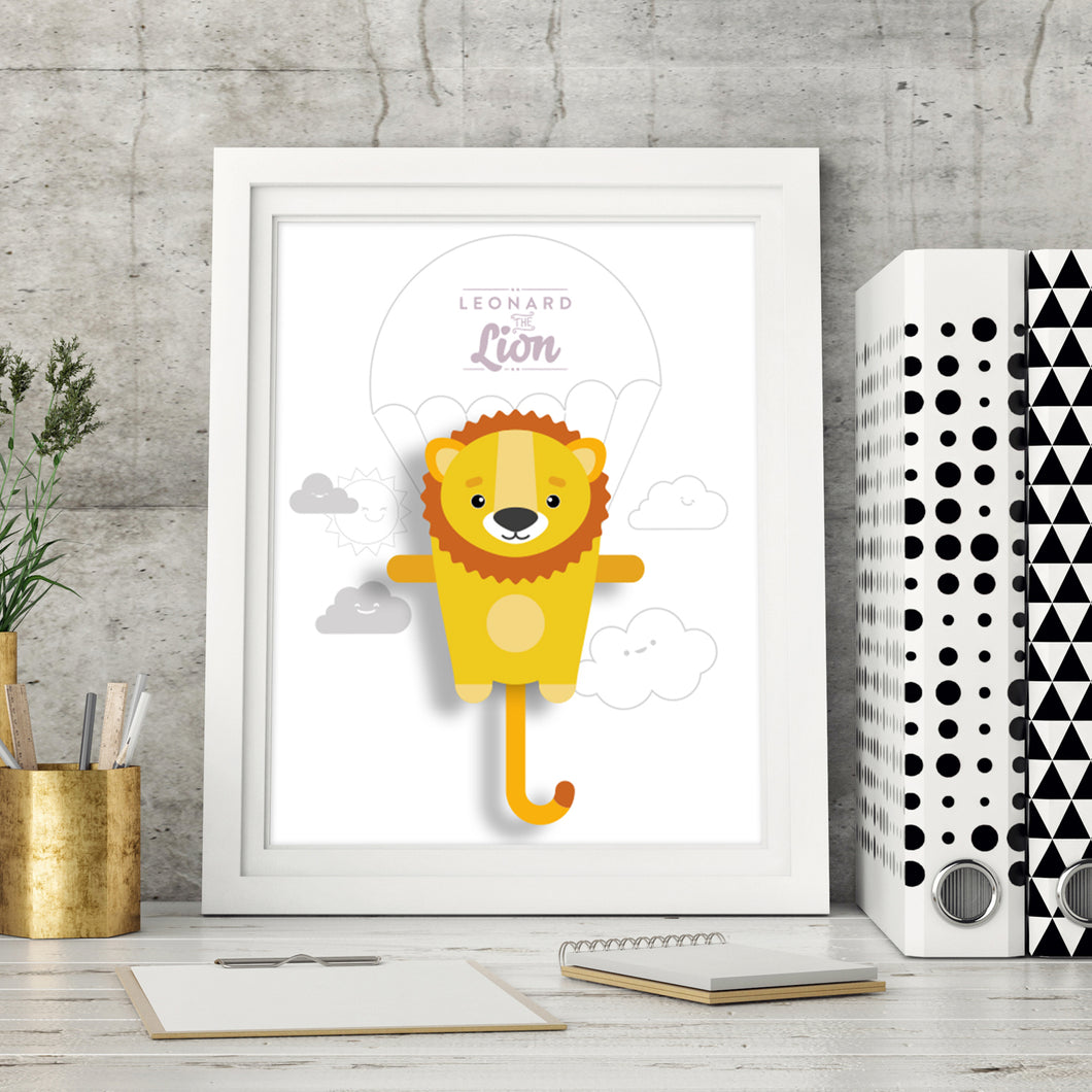 Leonard the Lion Animal Print - Instant Digital Download - Oddly Wild