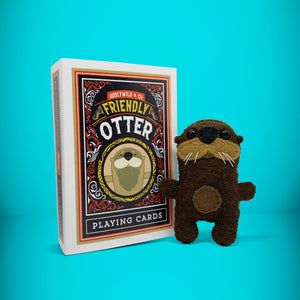 Mini Otter in a card box - Stuffed toy