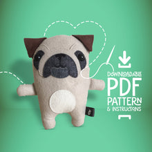 Load image into Gallery viewer, Pug - Digital Download Sewing Pattern - Oddly Wild