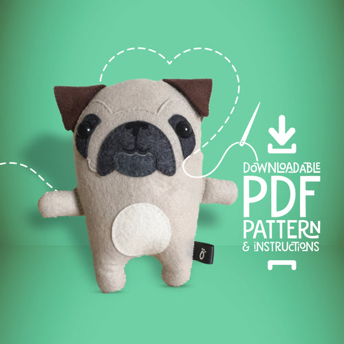 Pug - Digital Download Sewing Pattern - Oddly Wild