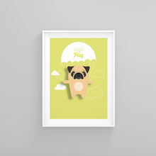 Load image into Gallery viewer, Pedro the Pug Animal Print - Instant Digital Download - Oddly Wild