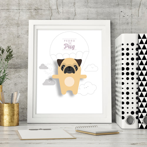 Pedro the Pug Animal Print - Instant Digital Download - Oddly Wild