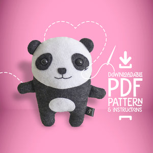 Panda - Digital Download Sewing Pattern - Oddly Wild