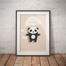 Load image into Gallery viewer, Penny the Panda Animal Print - Instant Digital Download - Oddly Wild