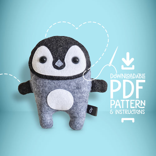 Penguin - Digital Download Sewing Pattern - Oddly Wild