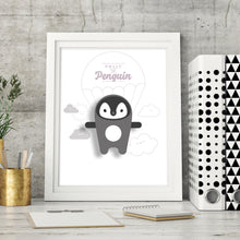 Load image into Gallery viewer, Polly the Penguin Digital Art Print - Oddly Wild