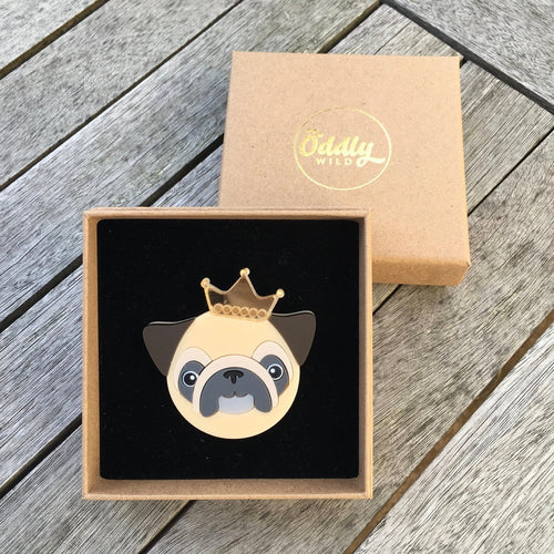 Pug Brooches - Oddly Wild
