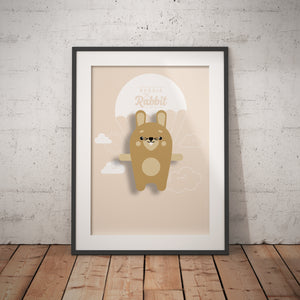 Reggie the Rabbit Animal Print - Instant Digital Download - Oddly Wild