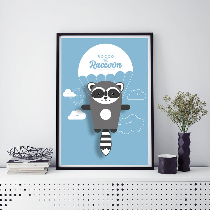 Rocco the Raccoon Animal Print - Instant Digital Download - Oddly Wild