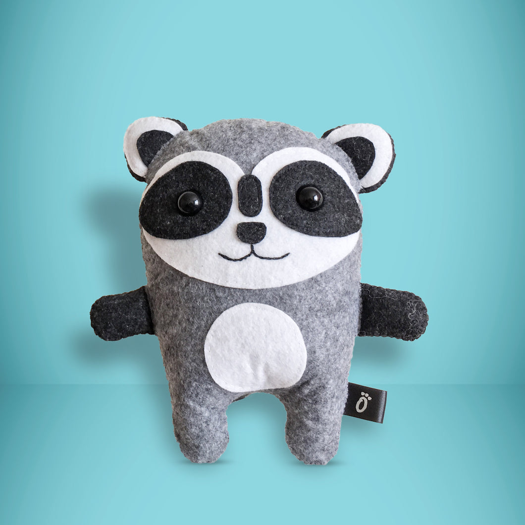 Raccoon - Sew Your Own Felt Kit - Oddly Wild