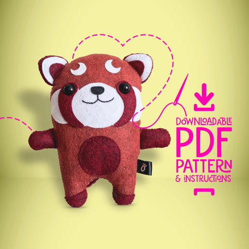 Red Panda - Digital Download Sewing Pattern - Oddly Wild