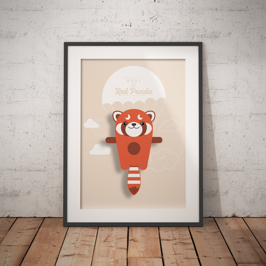 Roxy the Red Panda Animal Print - Instant Digital Download - Oddly Wild