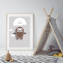 Load image into Gallery viewer, Samuel the Sloth Animal Print - Instant Digital Download - Oddly Wild