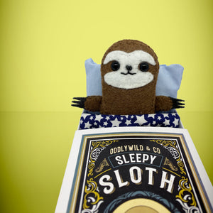 Mini Felt Sloth in a box - Stuffed toy