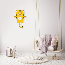 Load image into Gallery viewer, Tiger Wall Clock with pendulum tail - Oddly Wild