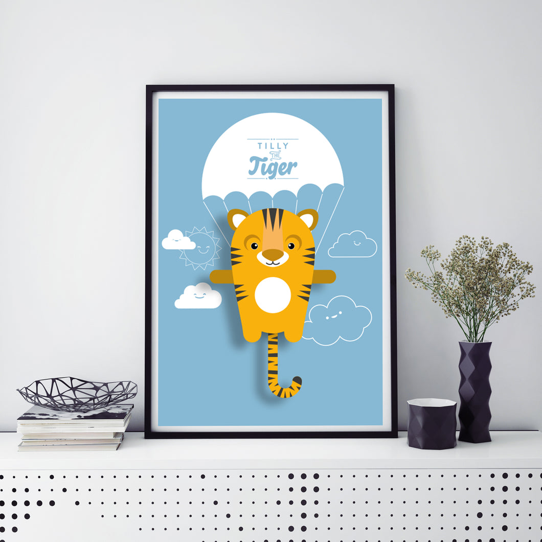 Tilly the Tiger Animal Print - Instant Digital Download - Oddly Wild