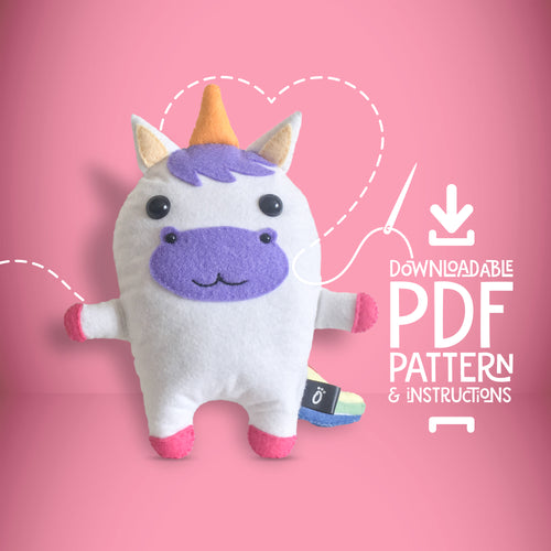 Unicorn - Digital Download Sewing Pattern - Oddly Wild