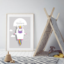 Load image into Gallery viewer, Umi the Unicorn Animal Print - Instant Digital Download