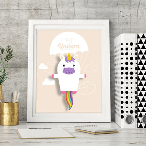 Umi the Unicorn Animal Print - Instant Digital Download - Oddly Wild