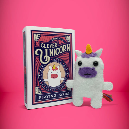 Mini Felt Unicorn in a card box - Stuffed toy
